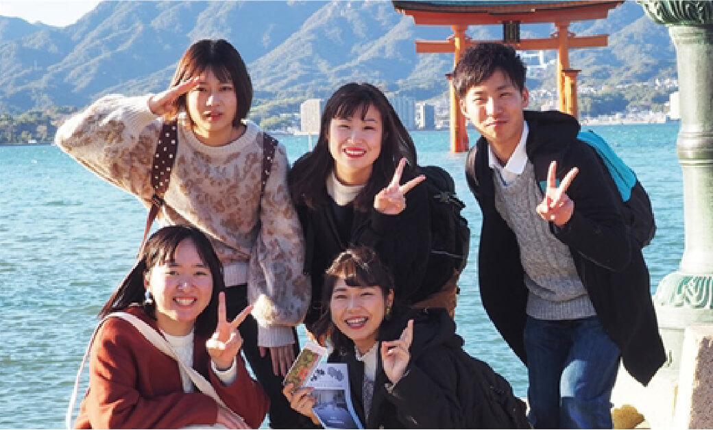 世界遺産宮島で行う旅程研修